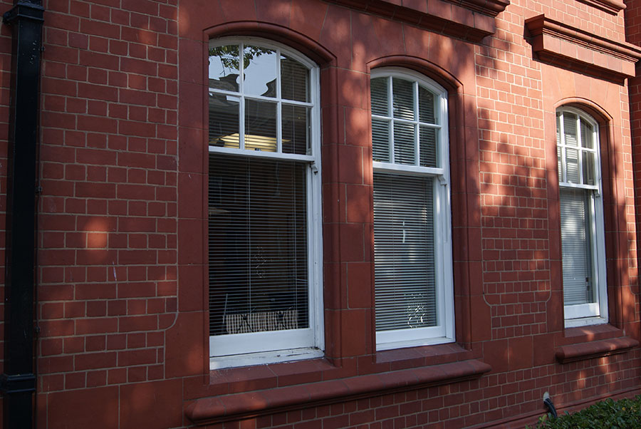 Heritage Rose sash window